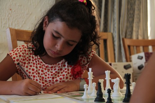 A young participant of the Youth Tournament