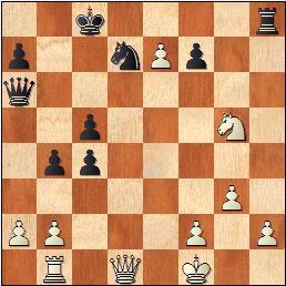 The position in Van der Hoeven - Van Kampen after 22 moves