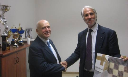 Mr Pagnoncelli (left) and Mr Giovanni Malagò, president of CONI