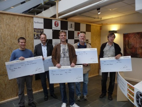 IM Bekkewr-Jensen, GM Danielsen, IM Jepson, IM Ahlander, GM Burmakin (from left to right)