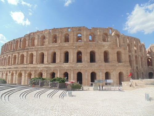 The Roman Amphitheater of Thysdrus is the main attraction in the city of El Jem
