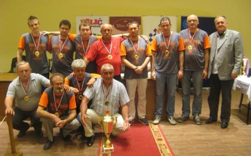 "Chess Club ""Radnicki Vodovod"" is 2014 Serbian champion for men"