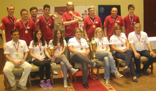 The team of Jelica Pep Goracici took the gold among women and silver