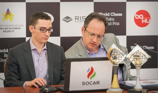 Fabiano Caruana and Boris Gelfand
