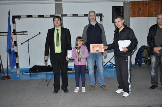 Andjela Dinic from Vlasotince is best placed girl in children's tournament