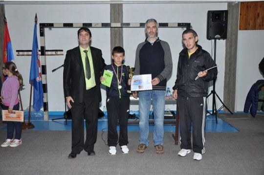 Dusan Dimitrijevic is best placed boy in children's tournament