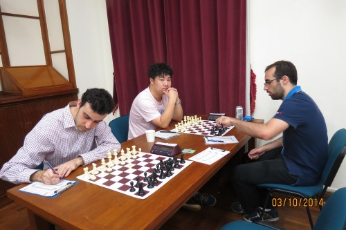Round 5: Top seed GM YU Ruiyuan (CHN) vs. IM PENA GOMEZ Manuel (ESP)