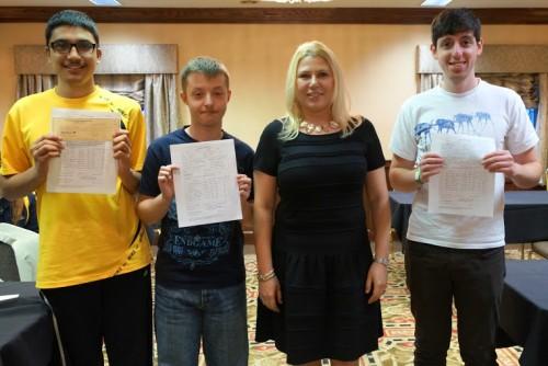 Razvan Preotu (GM norm), Safal Bora (IM norm), Susan Polgar and Kostya Kavutskiy (IM norm)