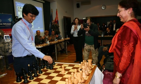 Simultaneous chess exhibition by Grandmaster Harikrishna Pentala