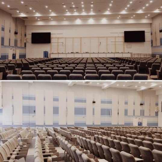 The playing venue under preparation #CarlsenAnand