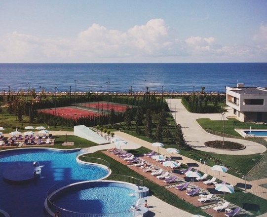 View from the official hotel where the players will stay