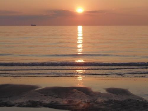 Magnificent sunset in Durres