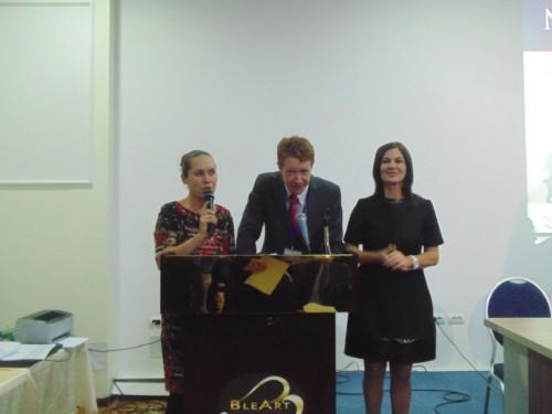 WCM Rozana Gjergji, IA Jamie Kenmure and Majlinda Pilinci (Tournament organizer)