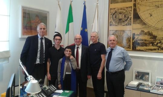 Fabiano Caruana visited CONI