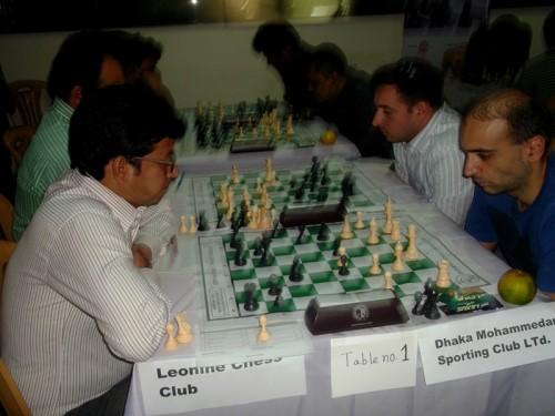In 1st Round Leonine Chess Club Vs. Dhaka Mohammedan Sporting Club Limited
