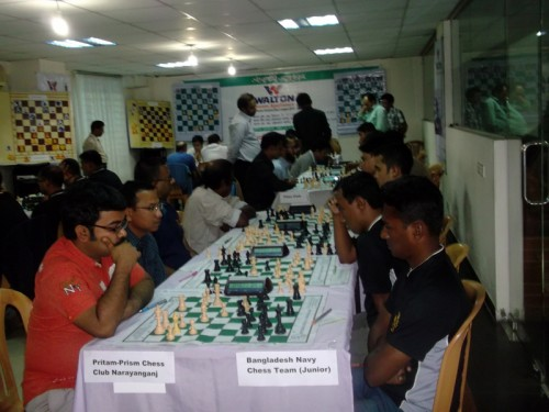 In 1st Round Pritam-Prism Chess Club Narayanganj Vs. Bangladesh Navy (Junior)