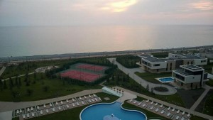 View from Anand's room in Sochi (photo by Aruna Anand)