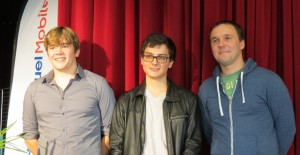 The winners FM Barbot (3rd), GM Lagarde (1st) and Maiorov (2nd)
