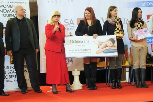 Klaudia Kulon was awarded one more prize for becoming WGM during  the last FIDE Congress - SPA weekend in one of the most famous Polish resorts