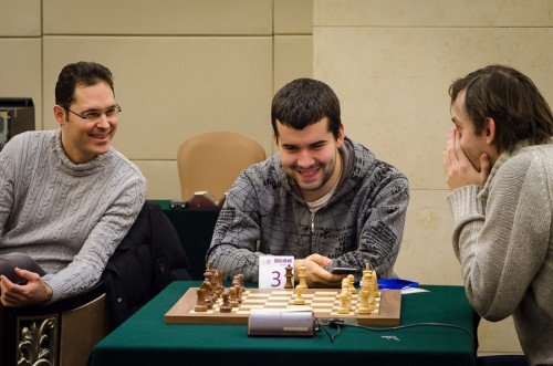 In good spirits before the tournament; Grischuk and Nepomniachtchi had no idea what Caissa had reserved for them!