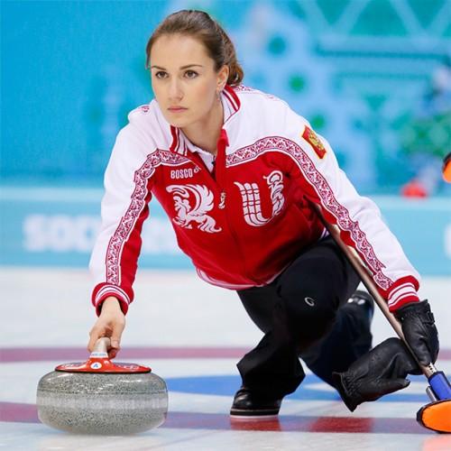 23-year-old Anna SIdorova is a Russian curler, 2014 European silver medalist
