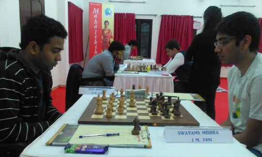 Deep Sengupta outwitted IM Swayams Mishra to lead with 4.5 points