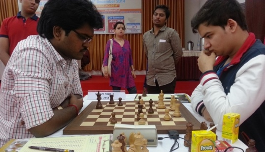 Good run by GM Sahaj Grover was halted by IM P. Shyam Nikil