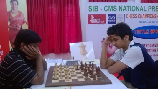 IM Girinath had a upset win over GM Vidit Santosh Gujrathi