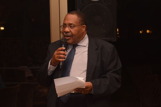 Lewis Ncube during the official opening of the African Individual Chess Championships