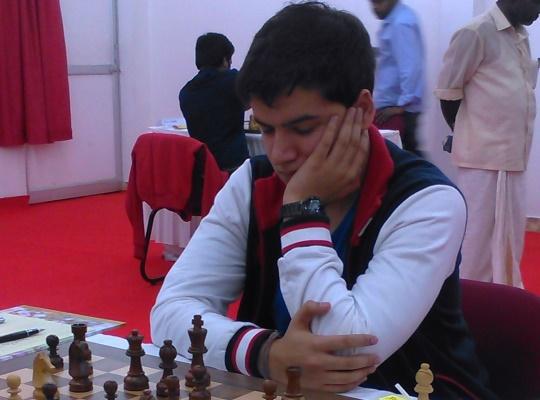 Sahaj Grover had a good win over GM Lalith Babu