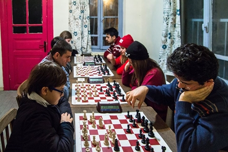 Chess players in action!