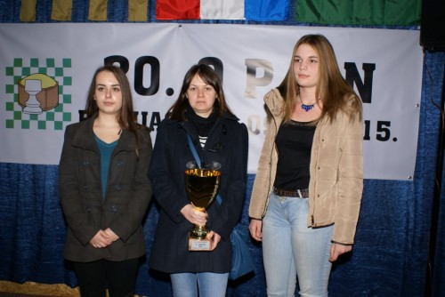 Tajana Turk, WIM Ana Berke and Mihaela Blazeka (from left to right)