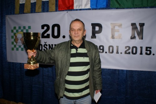 GM Emir DIzdarevic with second consecutive trophy from Bosnjaci