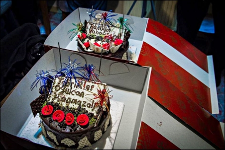 One cake for Ogulcan, the other for Vahap...
