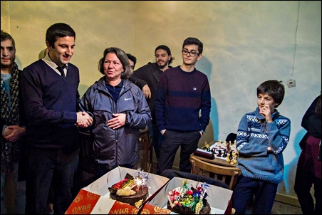 GM-elect Ogulcan was in Istanbul, but his mother was in the Cafe
