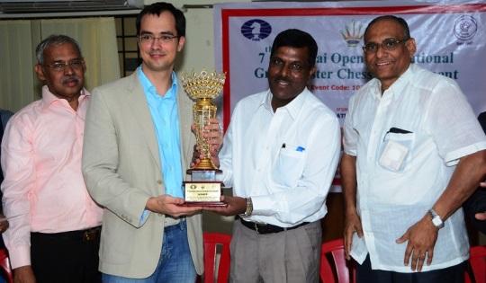 Mr V Hariharan, Grandmaster Popov Ivan, Mr Shambhu Kallolikar, Mr D V Sundar