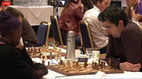 Vladimir Kramnik on the move against Bwalya