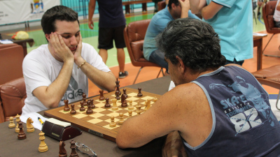 GM Axel Bachmann (left) outplayed Joaquim Deum (right) in the second year