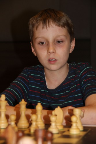 13-year-old Anton Smirnov is Australian most talented player with ELO rating of 2432 and sixth position among Australian best chess players (photo credit: Cathy Rogers)