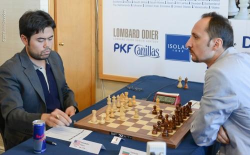 Hikaru Nakamura defeated Veselin Topalov in the sixth round to obtain perfect 6/6 score
