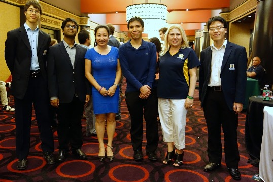 Amy Lee with Webster University Chess Team
