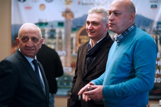Chief Arbiter Faik Gasanov, Giorgi Giorgadze, Zurab Azmaiparashvili