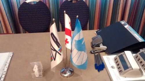 FIDE Tbilisi Grand Prix - Flags of Socar, Georgia and FIDE