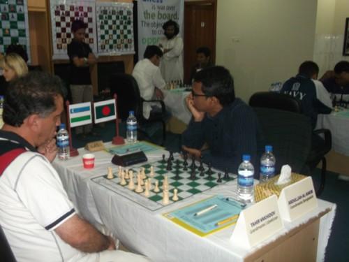 Round 1: GM Vahidov Tair Vs. GM Abdulla Al-Rakib