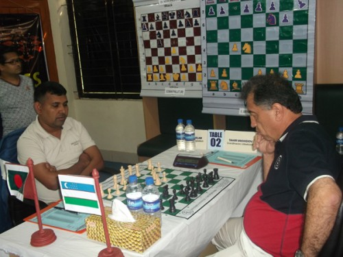 Round 2: FM Islam Kh. Aminul Vs. GM Vahidov Tair