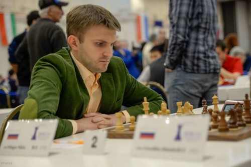 Second seed in the tournament: GM Nikita Vitiugov (photo credit: Yoav Nis)