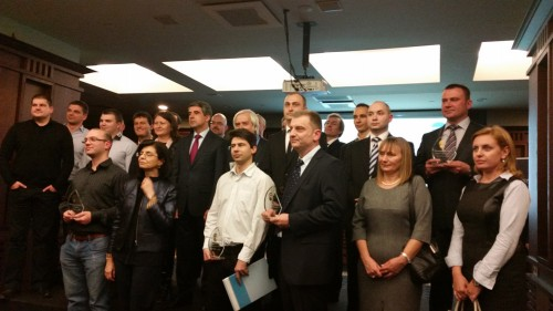 A group photo with President Plevneliev