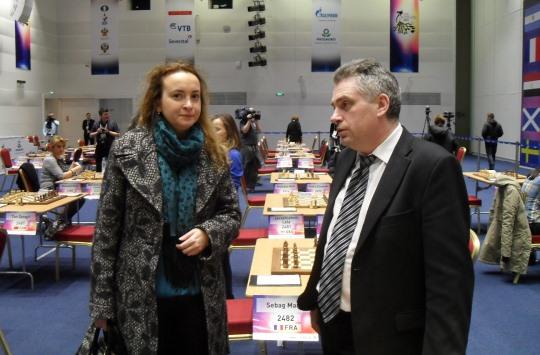 Antoaneta Stefanova and tournament director Alexander Tkachev