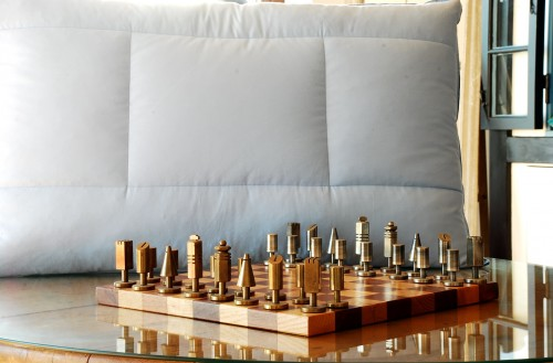Chess dreams in the Piumini Danesi factory with a beautiful chess set