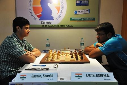 IM Shardul Gagre shocked GM Lalith Babu MR in 6th round